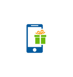 Mobile gift logo icon design vector