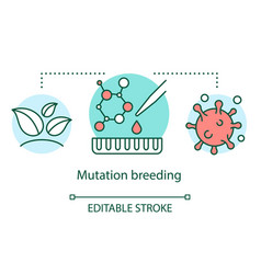 Mutation breeding concept icon genetic vector