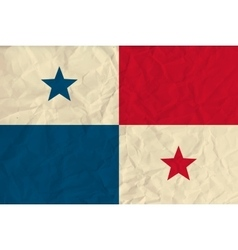 Panama paper flag vector image