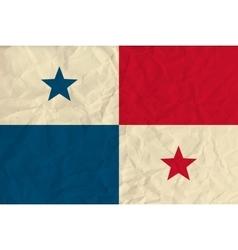 Panama paper flag vector