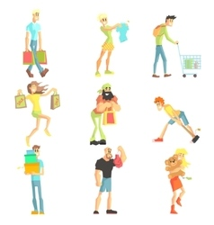 People Shopping Collection vector image