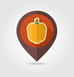Pepper flat pin map icon vegetable vector