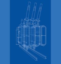 Power transformer concept vector