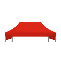Red tent icon flat style vector