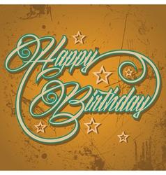 Retro Happy Birthday greeting stock vector
