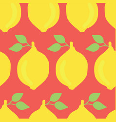 retro inspired hand drawn yellow lemons seamless vector image