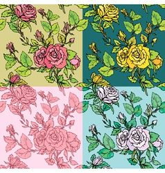 rose seamless 2 380 vector image