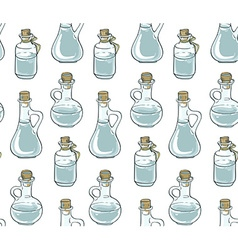 Seamless pattern with bottles vector image