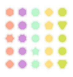 Set of color badge shape trophy and reward vector