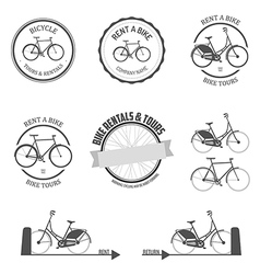 Set of rent a bike design elements vector image