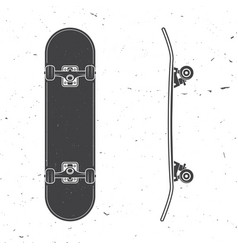 Set of skateboard icon vector