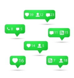 Set of social media network icons include vector