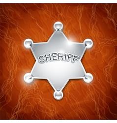 Sheriffs metallic badge vector