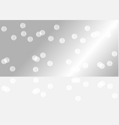 silver mirrored background for you product vector image