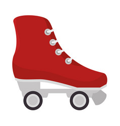 skates wheels isolated icon vector image