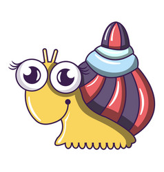 Snail icon cartoon style vector