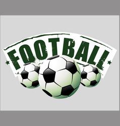 soccer balls vector image