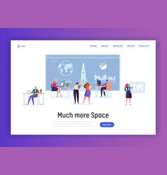 space administration office landing page vector image