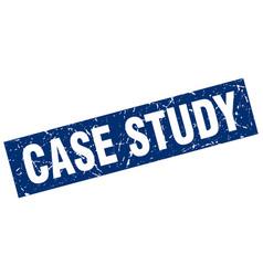 Square grunge blue case study stamp vector