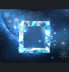 square ice banner vector image