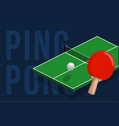 table tennis center banner design isometric table vector image