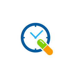 Time medicine logo icon design vector
