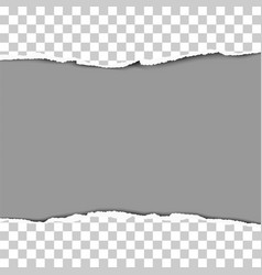 Torn strip from middle a transparent sheet vector