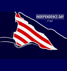 usa independence day poster template vector image