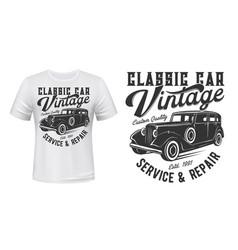 vintage car t-shirt print vector image