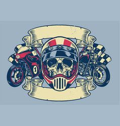 vintage textured motorcycle t-shirt design vector image