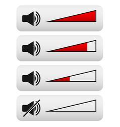 Volume control digital volume knobs vector