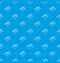 Wipers pattern seamless blue vector