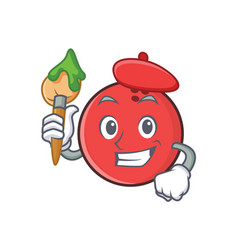 Artist bowling ball character cartoon vector