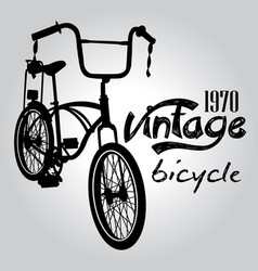 vintage bicycle graphic design vector image