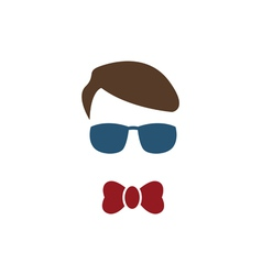 Young boy with blue glasses vector image
