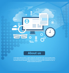 about us contact information template web banner vector image