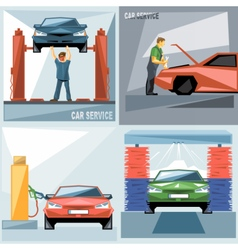 Digital blue green and red auto service vector image vector image