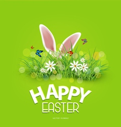 Easter Rabbit ears sticking out of the grass vector image vector image