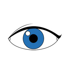 eye people cartoon watch optic icon vector image vector image