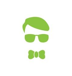 Green young boy logo vector image vector image