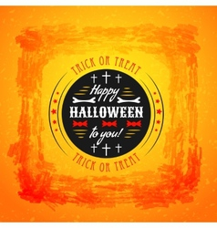 Halloween party poster Typography letters font vector image