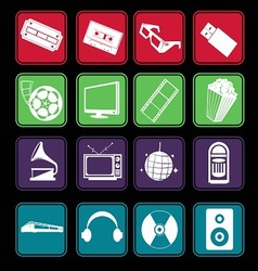 Movie and Music Entertainment Icon Basic Style vector image