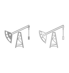 oil rig it is black icon vector image