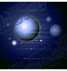 space abstraction vector image vector image