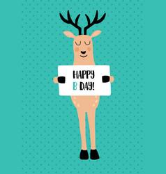 deer card vector image vector image