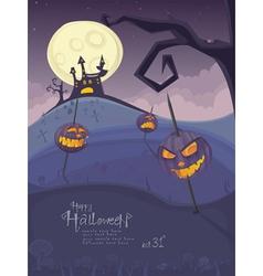 halloween purple template vector image vector image