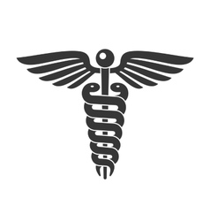 Medical Caduceus Sign Line Style vector image