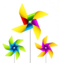 pinwheel toy vector image vector image