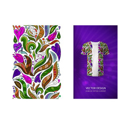 seamless floral pattern on t-shirt mockup vector image vector image