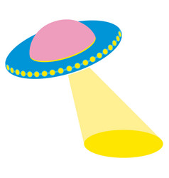 unidentified flying object with a searchlight vector image